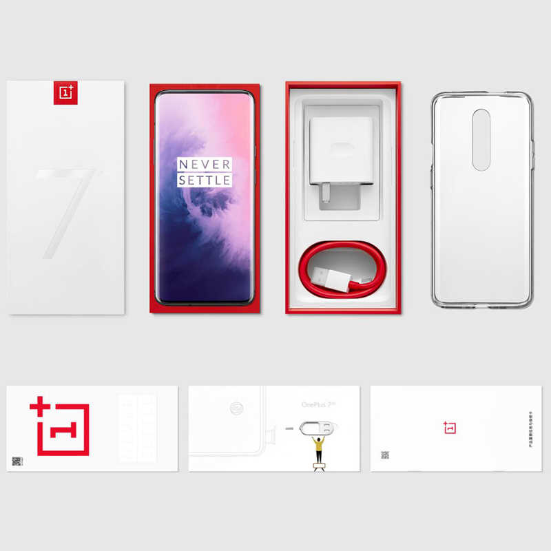 In Stock Original Oneplus 7 Pro 6GB 128GB Smartphone Snapdragon 855 AMOLED  Screen 48MP Triple Camera 30W Charger NFC 4000mAh