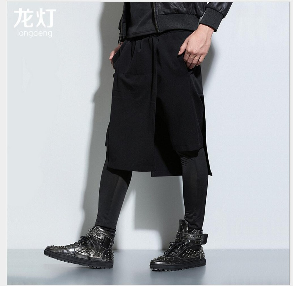 Harem-Pants Singer Loose Fashion Casual New HOT Retro Tide Stage-Costumes Culottes Neutral