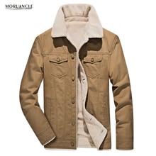 Moruancle новые зимние Для мужчин теплые брюки-карго Куртки с флисовой подкладкой Пальто для будущих мам для мужчин верхняя одежда casaco masculino плюс Размеры M-4XL