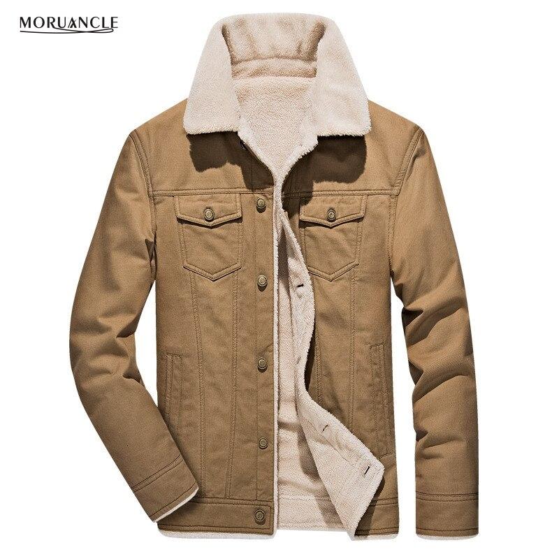 Moruancle nuevos hombres de invierno carga Chaquetas lana forrada Abrigos para hombre desgaste Outwear casaco masculino más tamaño m-4xl