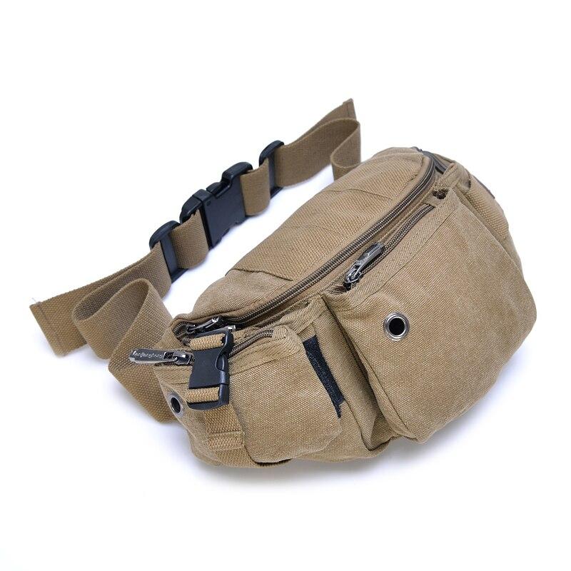 2017 New Molle Waist Bag For Men Casual Functional Canvas Fanny multifunctional  packs Money Phone Belt Bag bag 1145