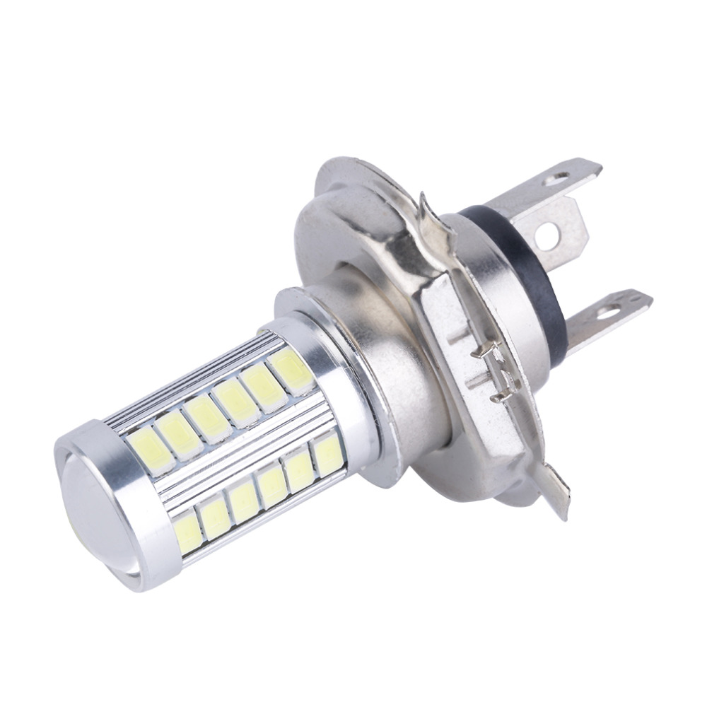 1pc 6000K White Car H4 Led Headlight Bulbs 5630 Chip 33 SMD LED H4 Fog Light Bulb Driving Light Daytime Running Light DRL 1x car led hb4 9006 33 led 5630 smd white car auto light source fog drl daytime running driving lamp bulb daytime running light