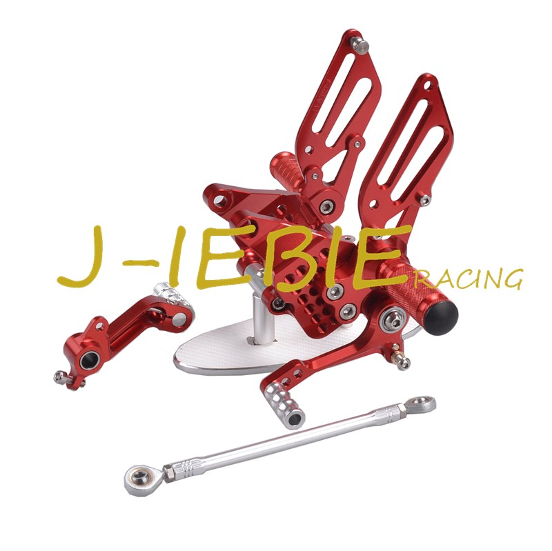 CNC Racing Rearset Adjustable Rear Sets Foot pegs Fit For Ducati 749 999 R/S R S 2003 2004 2005 2006 RED cnc brake clutch levers fit for ducati 1098 s tricolor 2007 2008 07 08 999 s r 2003 2004 2005 2006 03 04 05 06