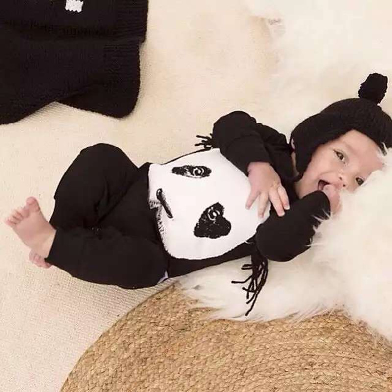 Newborn Cotton Baby Girl Clothing Jumpsuit Infant Clothing New 2018 Baby Boy Clothes Long Sleeve Cute Panda Romper Baby Costumes newborn cute toddler floral baby girl rompers infant cotton long sleeve kids jumpsuit overall romper hat children clothes sets