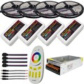 5m 10m 15m 20m DC12V Led Strip 5050 SMD RGB Lights Tape+4-Zone Controller+Led Remote+ Power Adapter