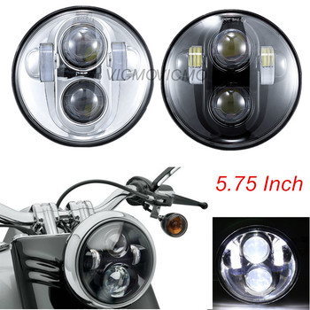 5.75 Front BlackChrome Projector Headlight For Harley Davidson Sportster Iron 883 1200 72 48 5-34 Inch H4 LED Round Headlamp harley davidson headlight price