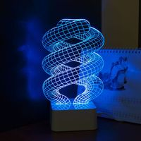 Spiral LED 3D Lamp Lighting Lampshade Kids Acylic Table Lamp Light Table Lamps For Bedroom