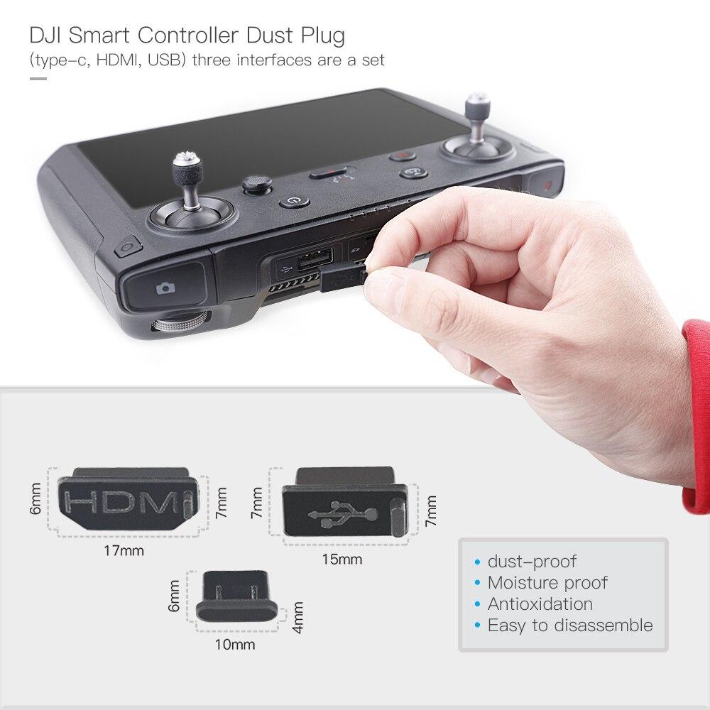 Dustproof Plug Cap Screen Remote Control Silicone Cover for DJI Smart Controller
