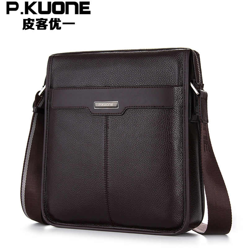 2014 New Men's Bags Brand 100% Genuine Leather Men Messenger Bags High Quality First Layer of Cowhide Leather Mens Shoulder Bags
