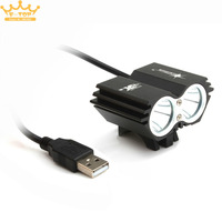 Solar Storm 7500LM X2 CREE XM L T6 USB Waterproof LED Bicycle Headlight