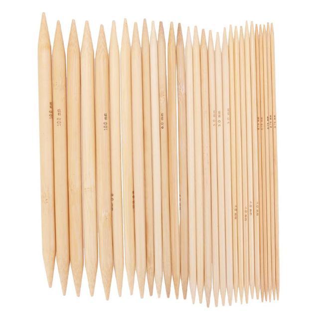 75 шт. 20 см отбеленные Бамбуковые Спицы Набор свитер Вязание иглы двойной острый карбонизированный отбеливатель бамбук