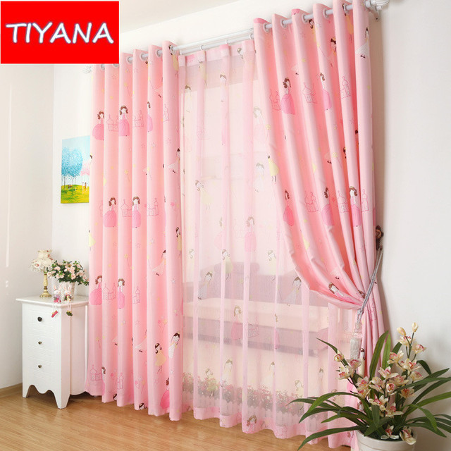 Cute High Quality Pink Cartoon Curtains For Girls Bedroom Sheer Curtains  Living Room Window Child Semi Part 56