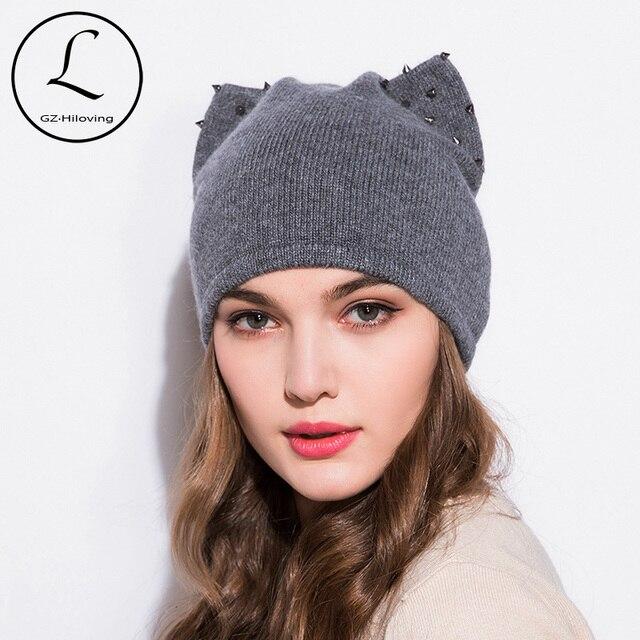 035670c9b22 GZHILOVINGL 2017 Wool Winter Hats For Woman Beanies Orecchiette Cute Hat  Girl Autumn Beanie Caps Warmer Bonnet Ladies Casual Cap