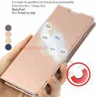Per Samsung Galaxy A40 A30 A50 A60 A70 Cassa di Libro di Cuoio Del Raccoglitore di Lusso A10 A20 M10 M20 A10s A20s di Vibrazione auto Magnetico Del Basamento Della Copertura