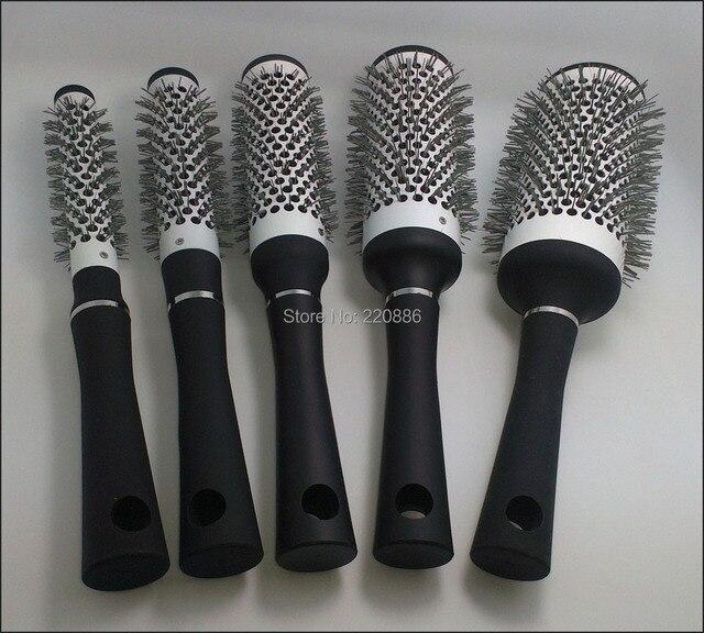 Ceramic Hair Brush  Round Hair Brush  Plastic Hair Brush GIC-HB506 5pcs/set  Free Shipping