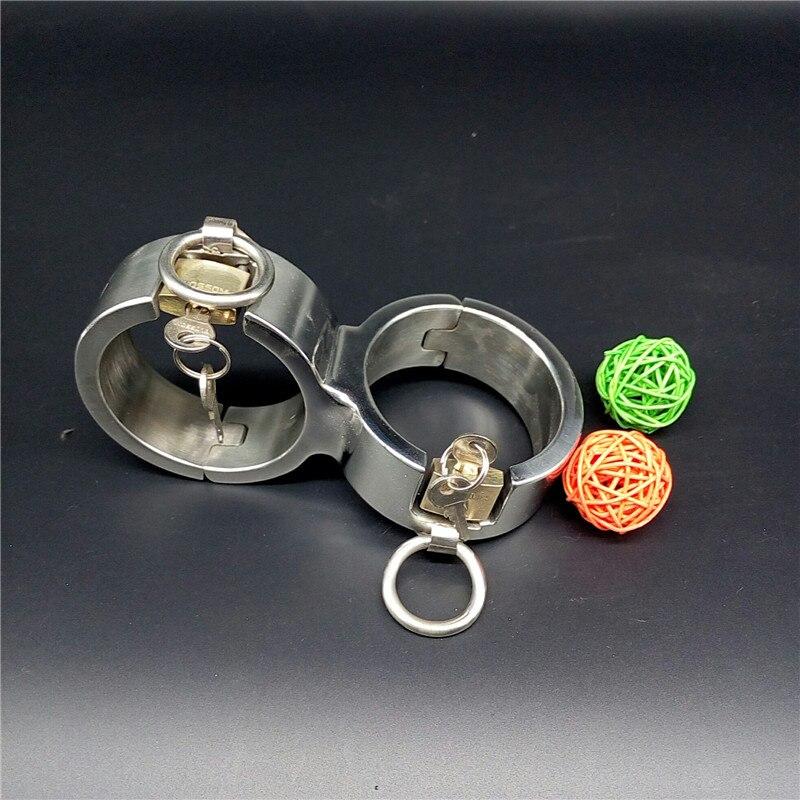 Nieuwe Rvs nandcuffs voor sex 8 stijl restraintstorture bondage handboeien bdsm speelgoed voor volwassen slave games met lock