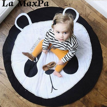 Baby Play Game Blanket Animals Pattern Sleep round carpet rugs kids Soft Warm crawling blanket infant Bath Towel Play Mat