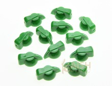 Pack of 12 Brass Insert Guitar Chicken Head Knob AMP Effect pointer Knob Green