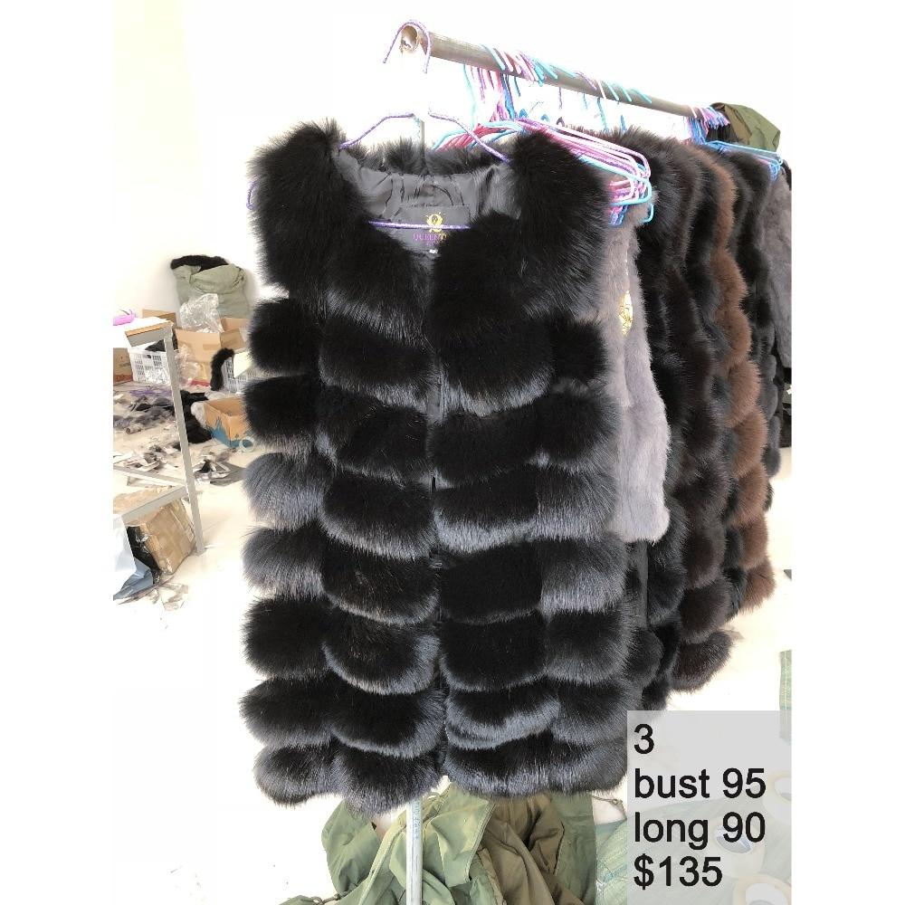 100 Real Fox Fur Vest Natural Fox Fur Vest Gilet Women Luxury Waistcoat Jackets Warm Thick