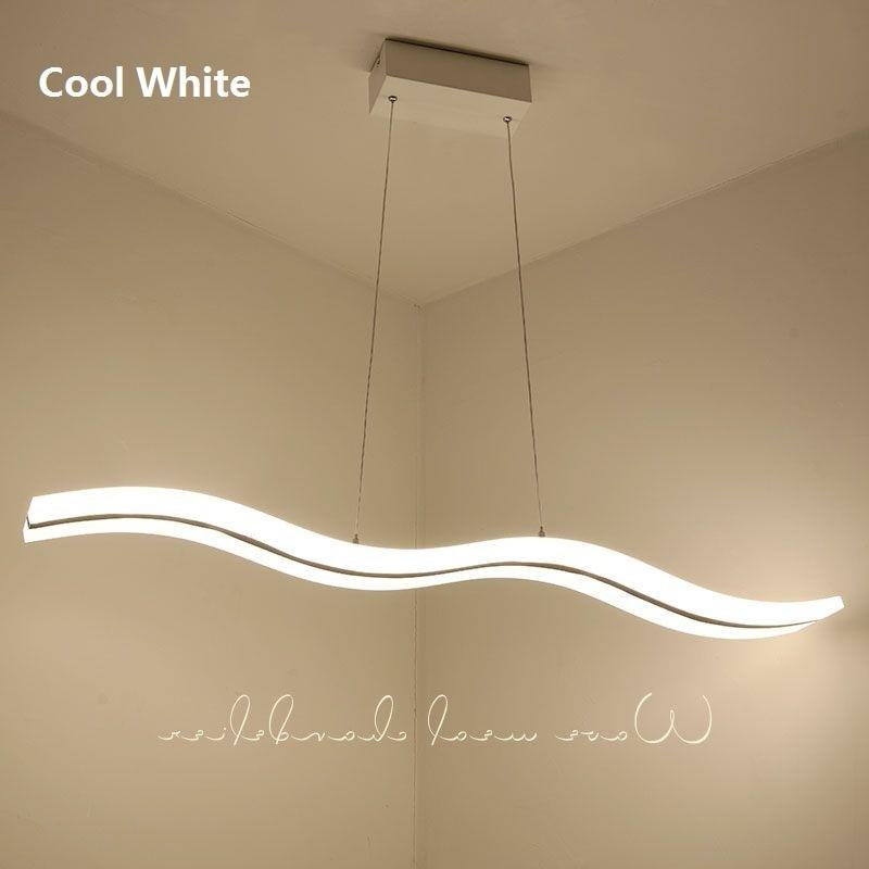 Leehouzz led pendant lights bedroom lustre moderne newest wave design 38w 47w acrylic indoor home lighting 110 240v led lamp in pendant lights from lights