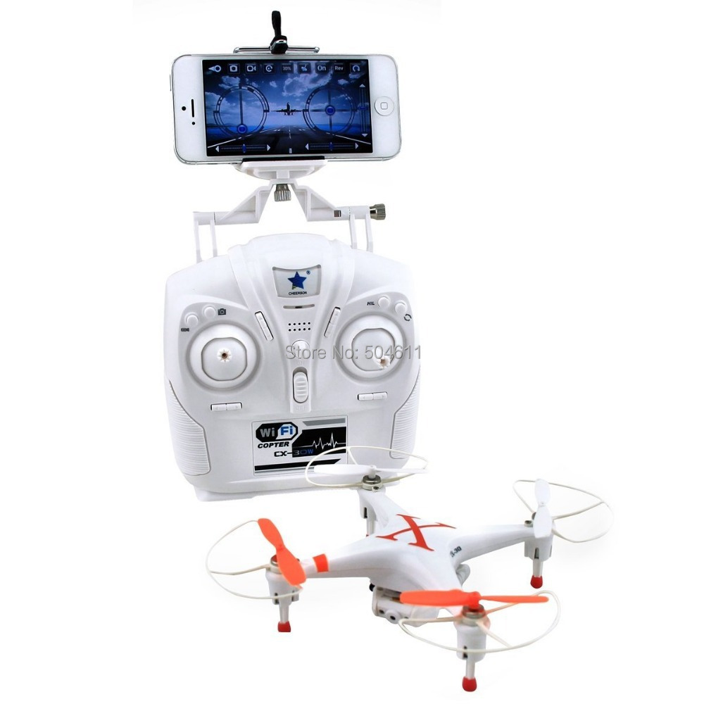 Cheerson CX-30W Cx30W 2.4GHz 4CH 6-Axis Gyro WiFi Real Time Video RC Quadcopter UFO FPV with Transmitter 0.3MP HD Camera