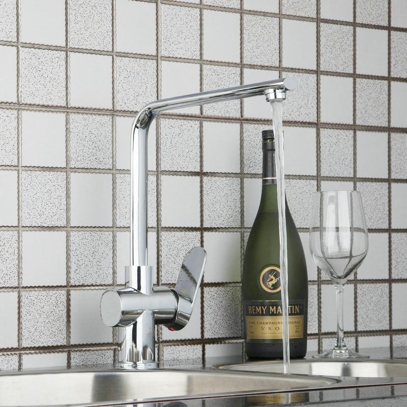 360 Swivel Kitchen Basin Sink Faucet Chrome Bathroom Good Mixer Basin Tap 92316 Hot Cold Water