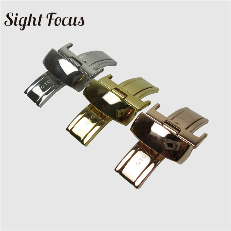 18mm Stainless Steel Butterfly Buckle Leather Watchband Buckle for Tissot t41 t60 t91 Strap Clasp Watch Accessories Buckle Parts(China)