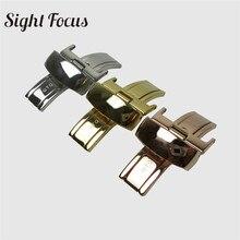 18 мм кожаный ремешок для часов из нержавеющей стали с бабочкой для Tissot T41 T60 T91 T099 T014 63 1853 застежка для часов