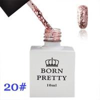 1 Bottle 10ml New Born Pretty Sequins Pink Nail Polish UV Gel Soak Off UV Varnish