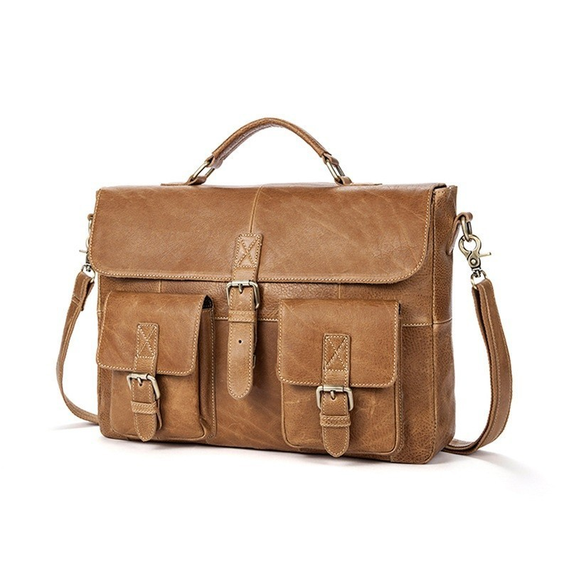 Luxury brand Cow Genuine Leather Business Mens Briefcase Male Shoulder Bag Real Leather Men Messenger Bag Travel Computer BagLuxury brand Cow Genuine Leather Business Mens Briefcase Male Shoulder Bag Real Leather Men Messenger Bag Travel Computer Bag