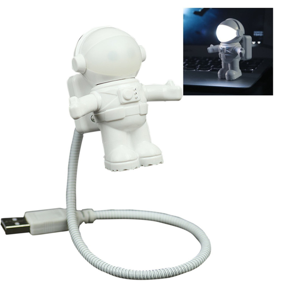 0.5w LED Adjustable Night Light Astronaut Spaceman Light For Computer PC Lamp Desk Light Pure White Luminaria