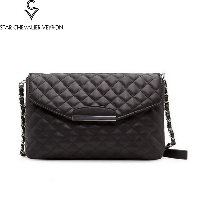 SCV 2019 new PU leather women's bag fashion Clutch bag simple shoulder bags Chain bag temperament