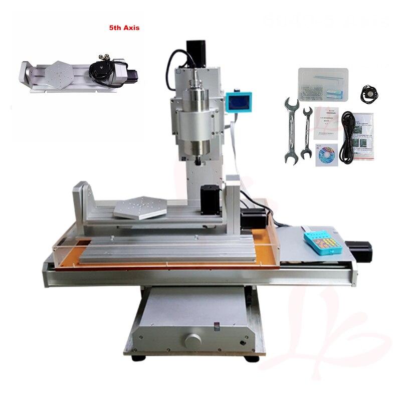 Vertical cnc 6040 5 2.2kw eixo de metal quadro router máquina de gravura em madeira com kit de ferramentas completo