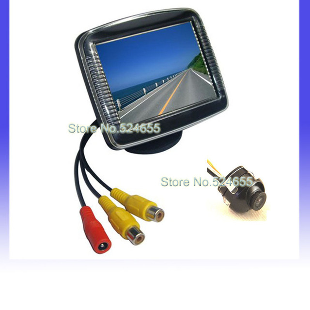 Free shipping night vision camera parking system 3.5 inch car back up monitor 360 degree 3.5-inch DIGITAL color TFT monitor
