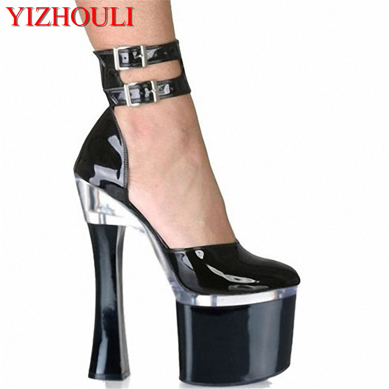 Fashionable Women's Ultra Sole 18CM High Heel Platforms Pole Dance/ Performance / Star/ Model Shoes, Wedding Shoes big size ankle strap 18cm thick high heel platforms pole dance shoes star model shoes sandals party wedding shoes 3 colours