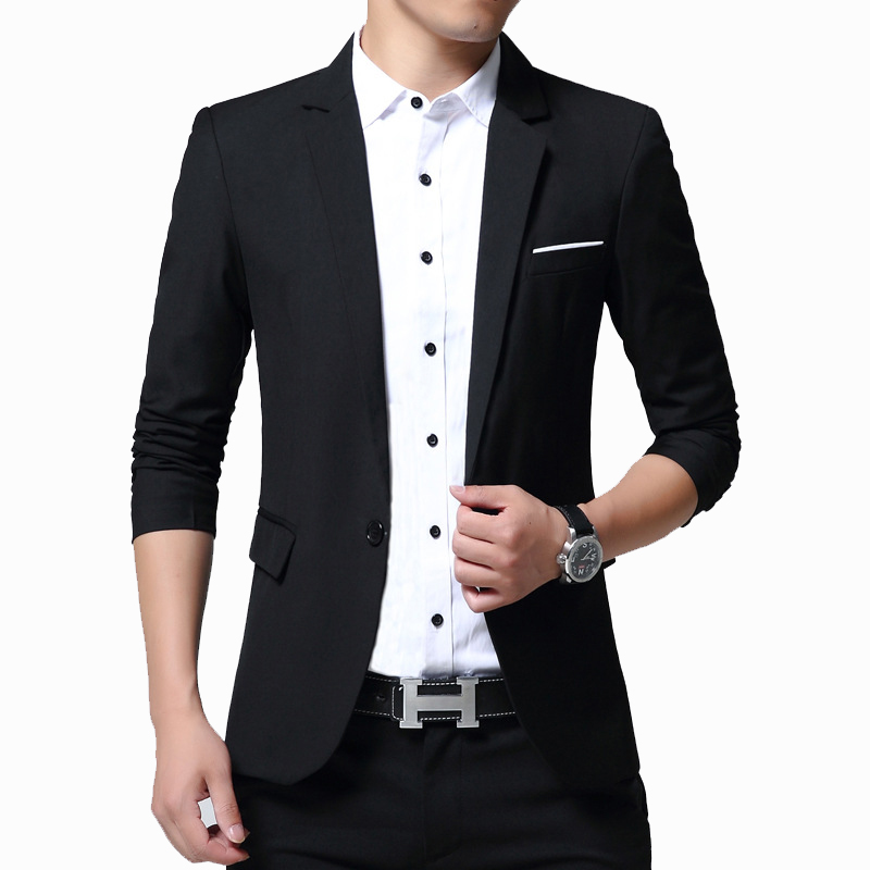 New Mens Blazers Spring Male Korean Style Slim Fat 5XL Thin Casual Blazer Men Jacket Coat Brand Outwear Blusa Masculina AF5188