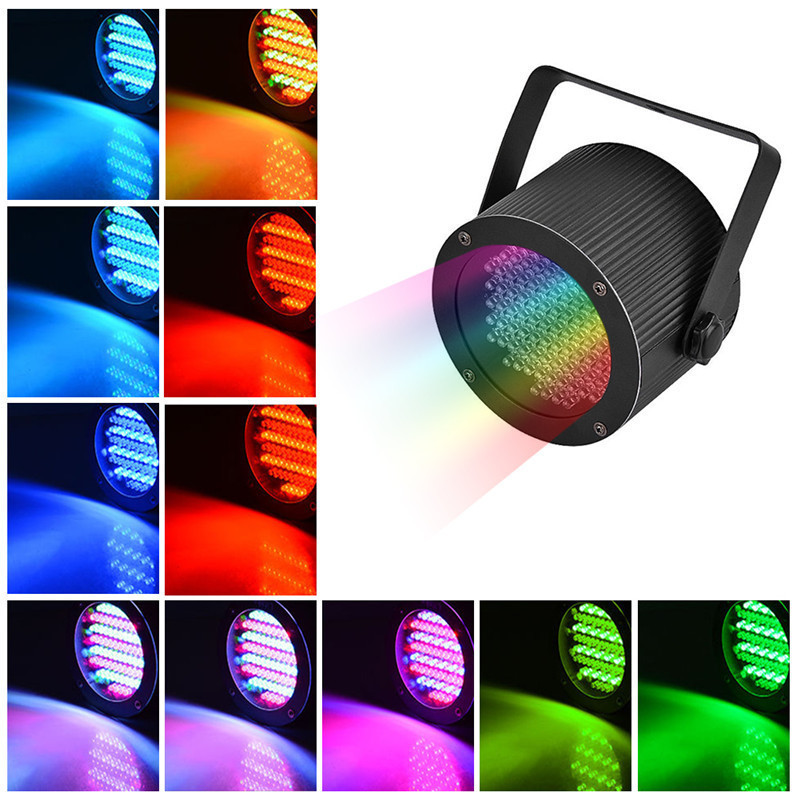 GERUITE  86 LED Stage Lighting Effect Mini Black Music Control Disco DJ Party Light Laser Stage Light Colorful Projector Lamp rg mini 3 lens 24 patterns led laser projector stage lighting effect 3w blue for dj disco party club laser