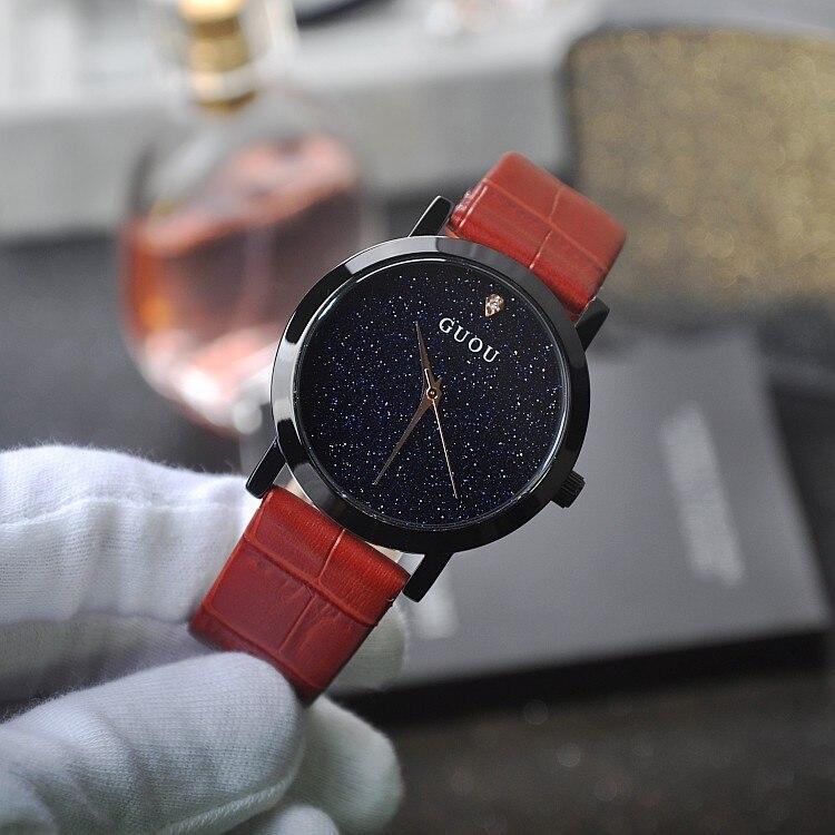Luxury Women Watches Trendy Casual Female Ladies Quartz Watch Blue Sandstone Rhinostone Wristwatch Clock Relogio Feminino