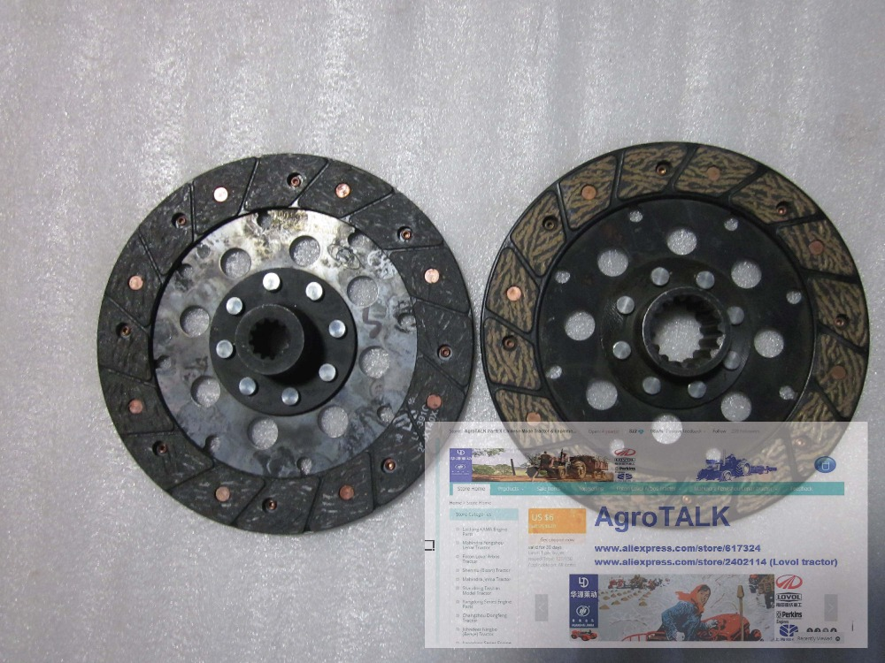 Foton Lovol FT254 tractor parts, the set of clutch disc, part number: б у foton bj1049