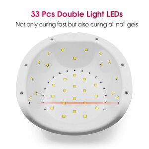 Image 4 - ROHWXY 72 W נייל מייבש UV LED נייל מנורת עבור מניקור USB קרח מנורת ציפורניים אמנות כלי עבור מהיר ייבוש כל ג ל פולני היברידי לכה