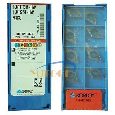 ФОТО 10pcs Korloy  carbide insert DCMT11T304 HMP PC9030 CNC Milling lathe insert new