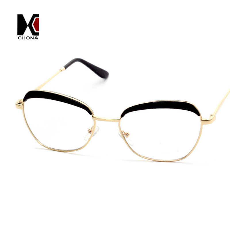 Semi sin montura estilo marcos redondos original gafas de lentes ...
