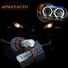 2 предмета светодиодный Ангельские глазки светильник 60 Вт H8 XBD чипы HID лампы для BMW E60 E61 E63 E64 E70 X5 E71 X6 E82 E87 E89 Z4 E90 E91 E92