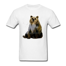 Bear Relaxing T Shirt Short Sleeve Mens T Shirts Fashion 2017 Hiphop Geek O-neck Cotton XXXL Nature Design Funny Tees Shirts