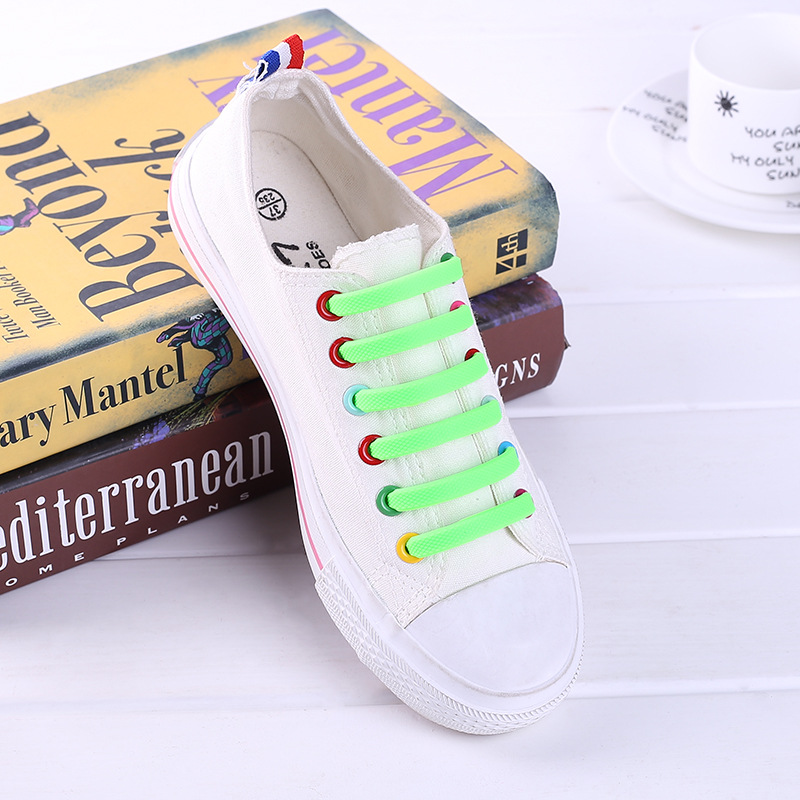 New Packing Design No Tie Shoelaces For Kids And Adults, Elastic Shoelaces For Sneakers, Silicone Flat Tieless Running Shoe Lace turn down collar colorful polka dot print long sleeve shirt for men