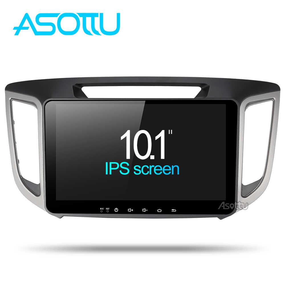 Asottu CIX251060 2 グラム android 8.1 カーナビゲーション dvd プレーヤー 1024*600 のための現代 IX25 CRETA gps ステレオ車マルチメディアプレーヤー dvd