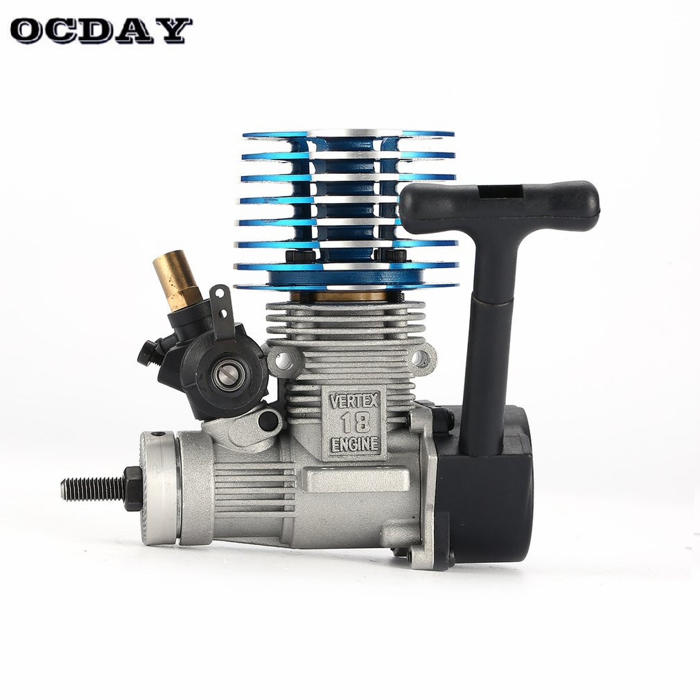 VX 18 2.74CC Metal Pull Starter Engine for RC 1/10 HSP HPI Redcat Nitro Racing Car Off-Road Buggy Bigfoot Truck On-Road RC Model engine blue for hsp 02060 rc 1 10 1 8 on road car buggy truck original part