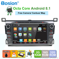 2GB RAM Android 8.1 Quad Core Car DVD Player For Toyota RAV4 RAV 4 2013 2014 2015 GPS Navigation Radio Stereo BT System camera