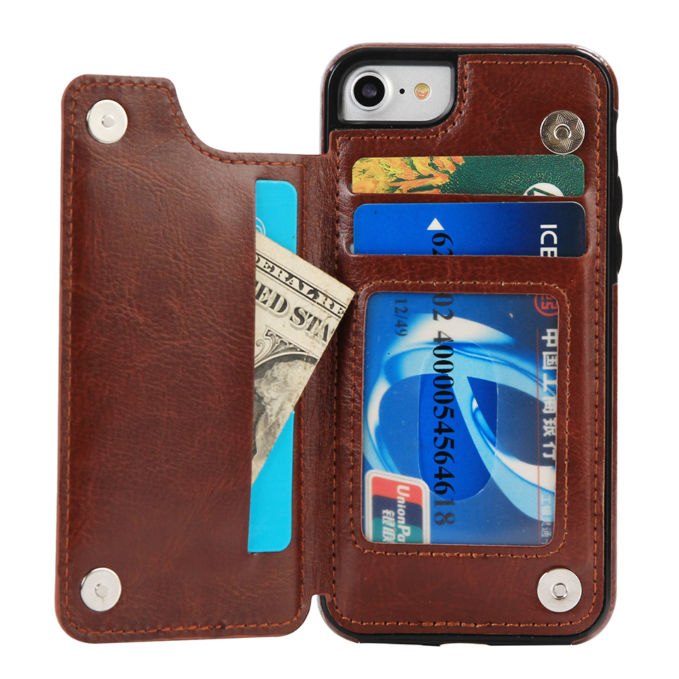 Leather Phone Bag For Samsung s8 s9 s9plus note8 Opening Holster Cover Pocket Wallet Pouch Case Fit For iphone 6 7 8 plus x case