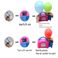 110V Or 220V New Double Hole 73005 HT-501 High Voltage AC Inflatable Electric Pump Air Balloons Inflator Machine